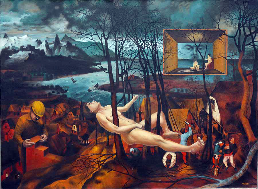 Fantasy on Bruegel's painting 'The Gloomy Day'