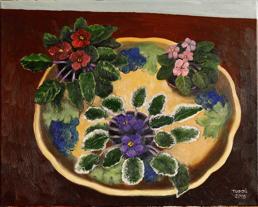 Home Flowers on the China Plate