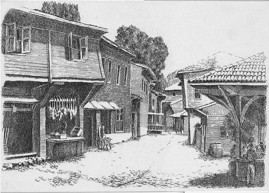 Geçmişten Bir Görünüş  (1995) İstanbul - İnk on paper