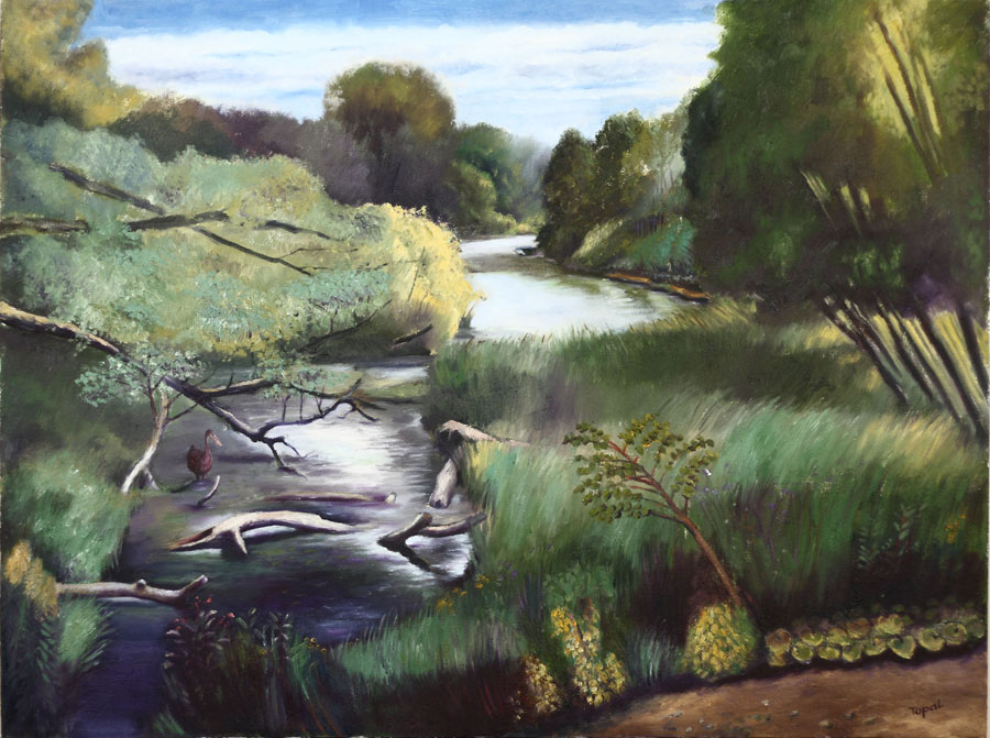 Landscape, Humber River Marshlands (2008) Toronto - Oil on canvas