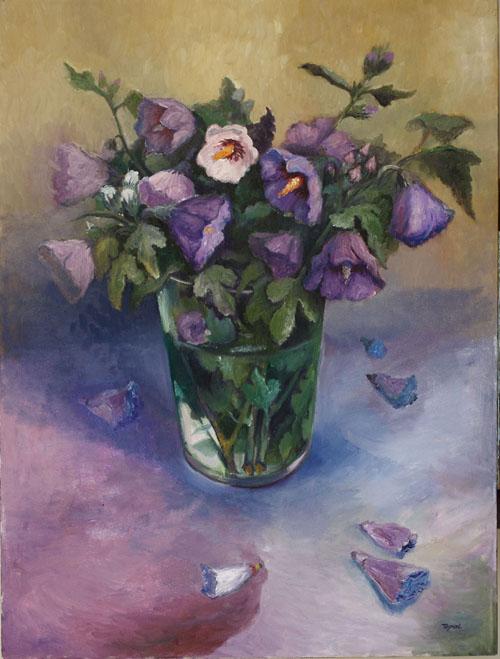Juan's Flowers - Toronto, 2010, Still Life - Oil on canvas