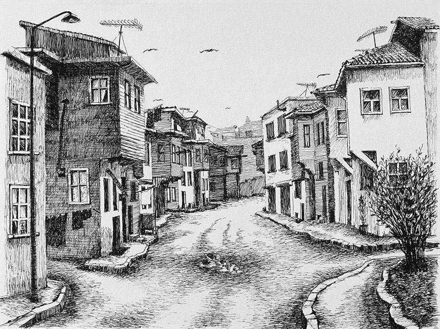 Eski ve Yeninin Karmaşası (1995) İstanbul - İnk on paper