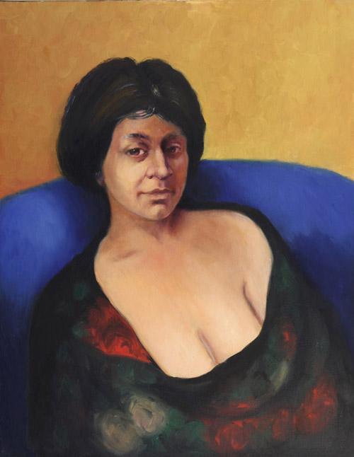 Vladimir Topal, Portraits, Leila, 2004, Toronto, Oil on canvas