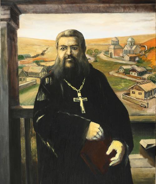 Vladimir Topal, Portraits, Michael Chakir Gagauz Bobasi, Oil on canvas