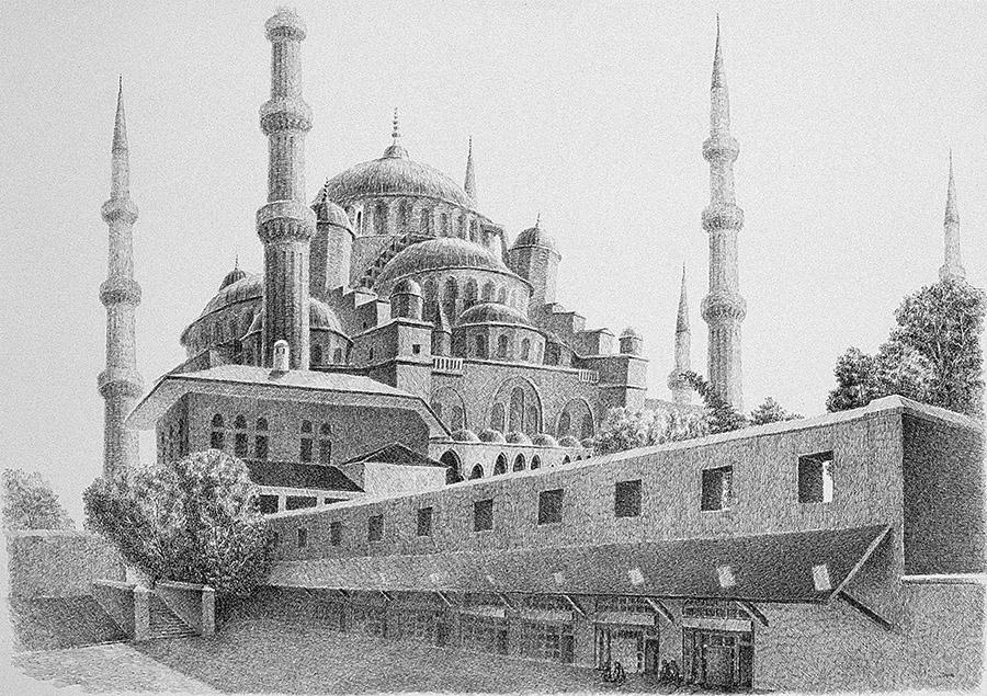 Sultan Ahmet'ın Güzelliği  (1995) İstanbul - İnk on paper
