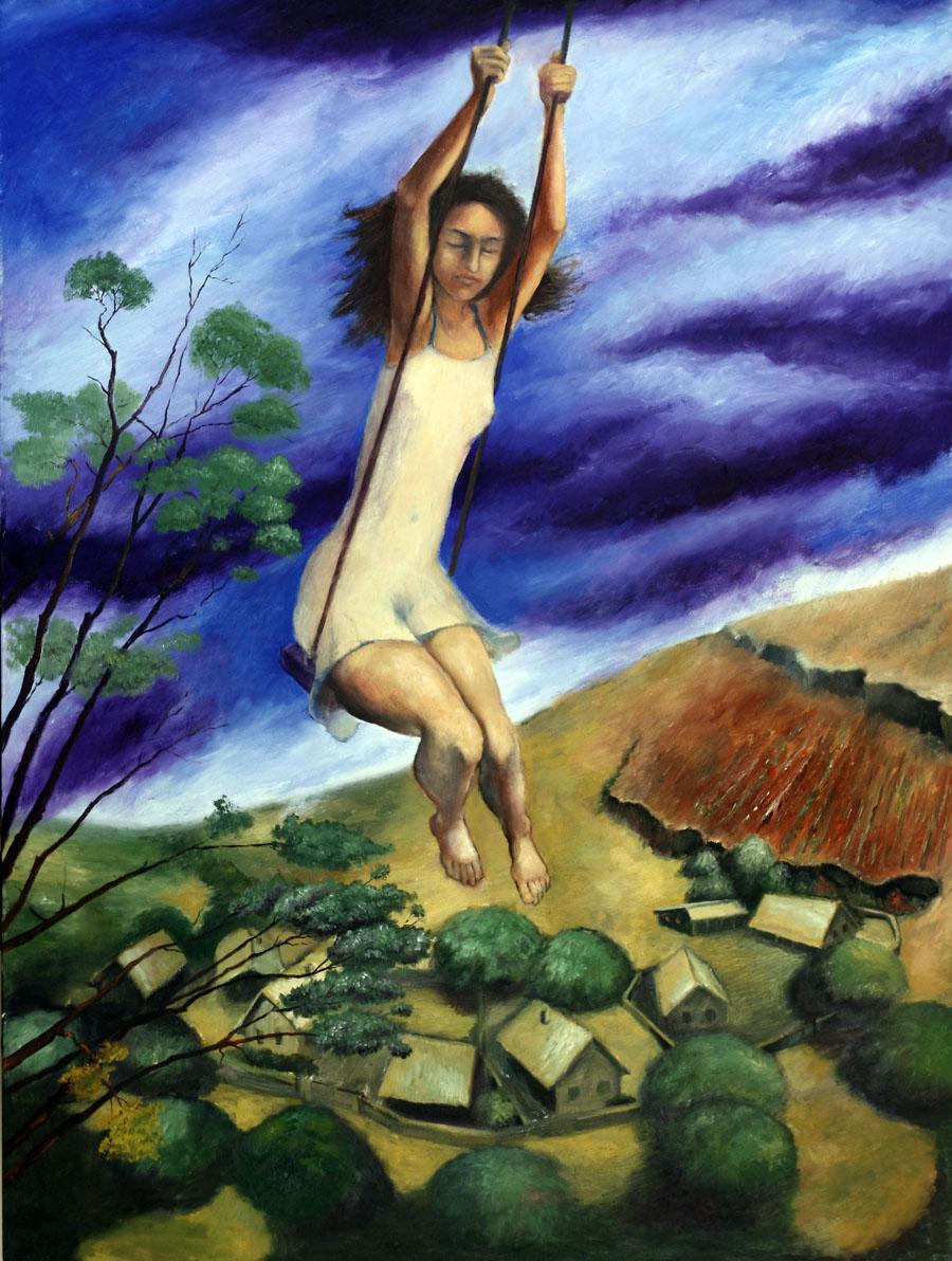 Swings over Village (2011) Toronto, Oil on canvas